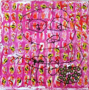 Figure in pink